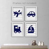baby boy vehicle wall art