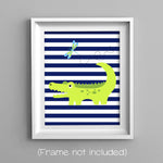 alligator nursery art print
