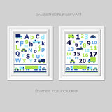 abc and numbers prints for baby boy