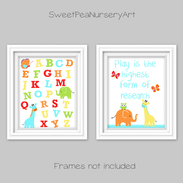 baby boy nursery art