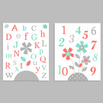 Alphabet and Numbers Prints