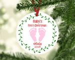 Baby's First Christmas Ornament - Baby Feet