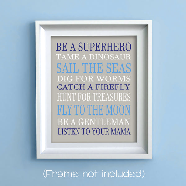 be a superhero boy rules print
