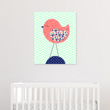 bird nursery canvas decor