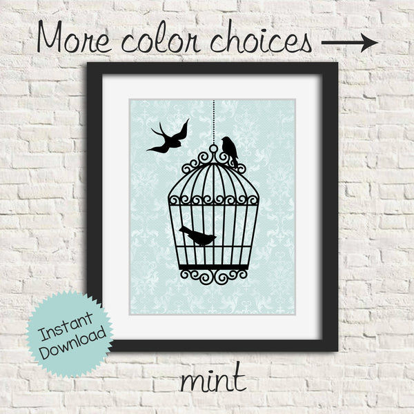 printable bird wall art