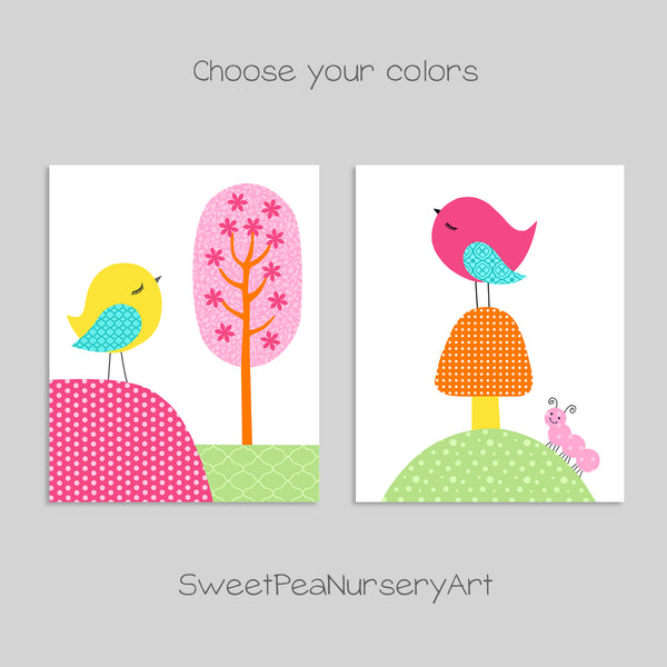 colorful bird nursery decor