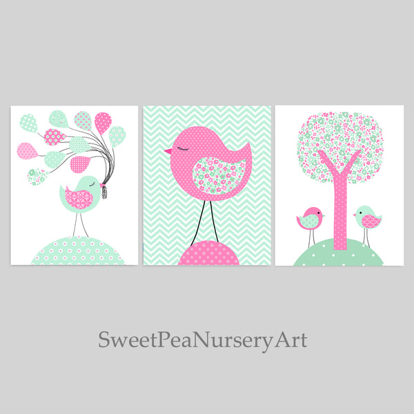 bird themed nursery art prints
