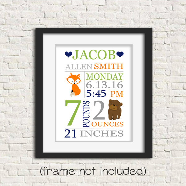 woodland birth stats print