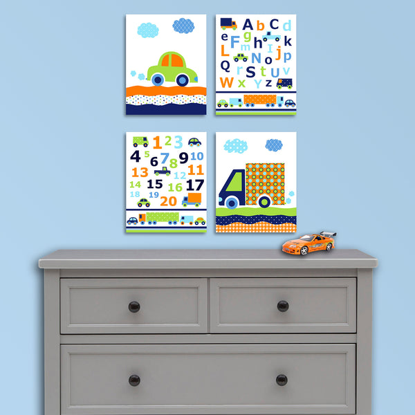 Transportation nursery pictures for baby boy