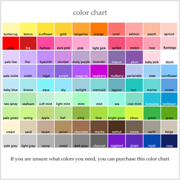 SweetPeaNurseryArt Color Chart