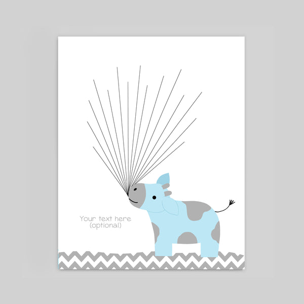 cow baby shower guest book