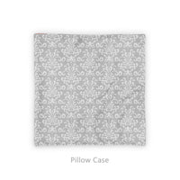 gray damask pillow cover