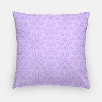 purple damask nursery pillow