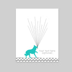 german shepherd baby shower guest book