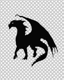 black and white dragon picture