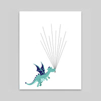 dragon baby shower guest book