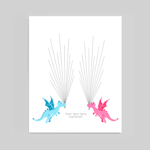 dragons twin baby shower guest book