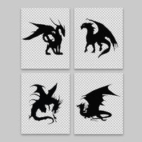 dragon silhouette canvas pictures