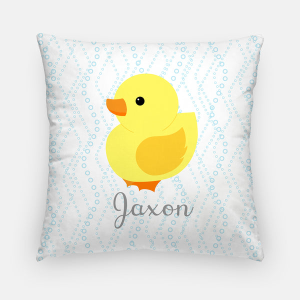duck nursery pillow with name
