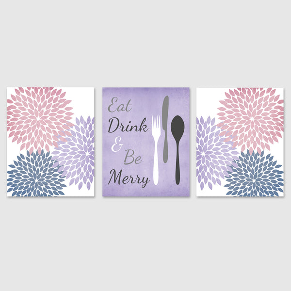 eat drink and be merry kitchen art prints