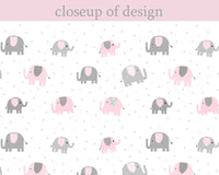 Elephant Fitted Crib Sheet | Grey and Pink | Baby Girl Nursery Bedding | Zoo Nursery