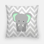 Elephant Nursery Throw Pillow | Zoo Nursery Decor | Nursery Accessory | Choose Size