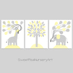 Pale yellow and grey zoo animal nursery decor