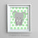 Mint Green Elephant Nursery Decor | Gender Neutral Baby Art Print | Jungle Nursery Print