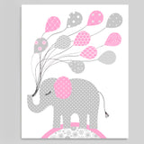 baby girl elephant decor
