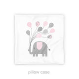 elephant nursery pillow case