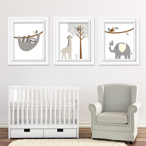 lambs and ivy baby jungle animals bedding