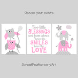 gray and pink baby girl twin nursery decor