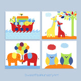 Noah's Ark Themed nursery prints
