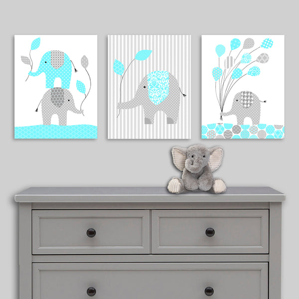 Elephant canvas decor for baby girl