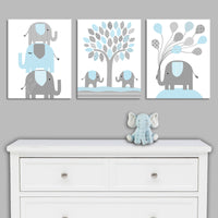 Set of three elephant canvas prints