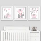 Elephant baby girl wall decor