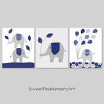 gray and navy elephant nursery decor