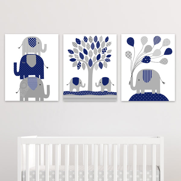 navy elephant decor