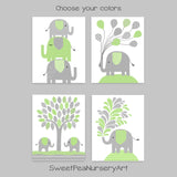 light gray and gray elephant nursery decor