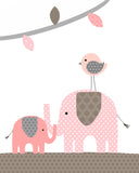 Koala Bear Decor | Koala Nursery Prints | Pink and Brown | Set of 4 | Baby Girl | Canvas Avail