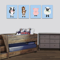 baby farm animal canvas art