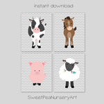 printable farm animal pictures for nursery instant download