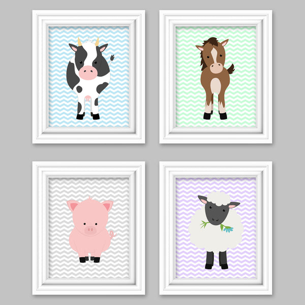 pastel farm animal nursery pictures