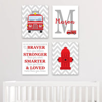 Firefighter wall art