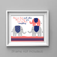 First we had each other nursery art print