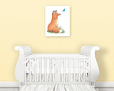 fox nursery art print on canvas