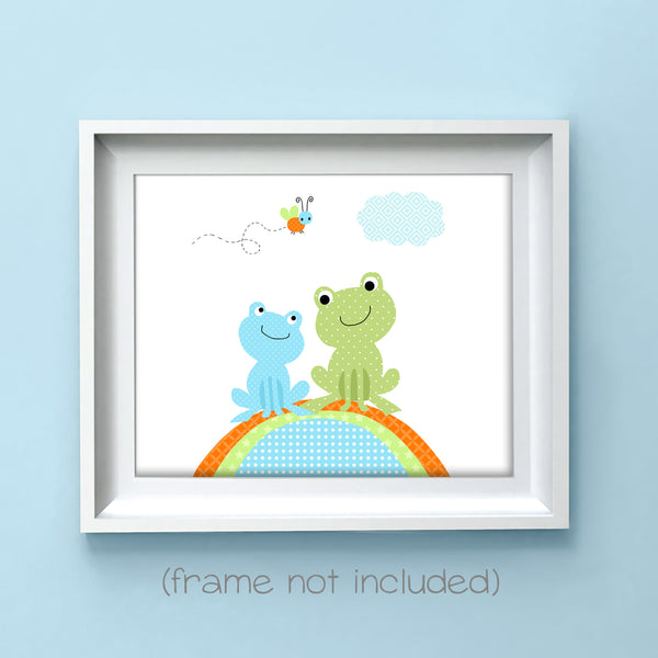 cute frog nursery art print