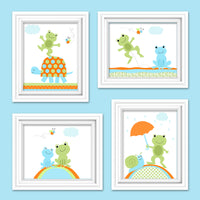 frog and turtle nursery decor