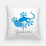 gecko pillow with name