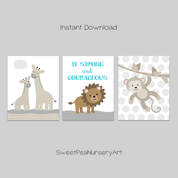 printable jungle animal nursery pictures
